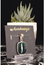 Bloodstone Pendant #2 - Rounded Square