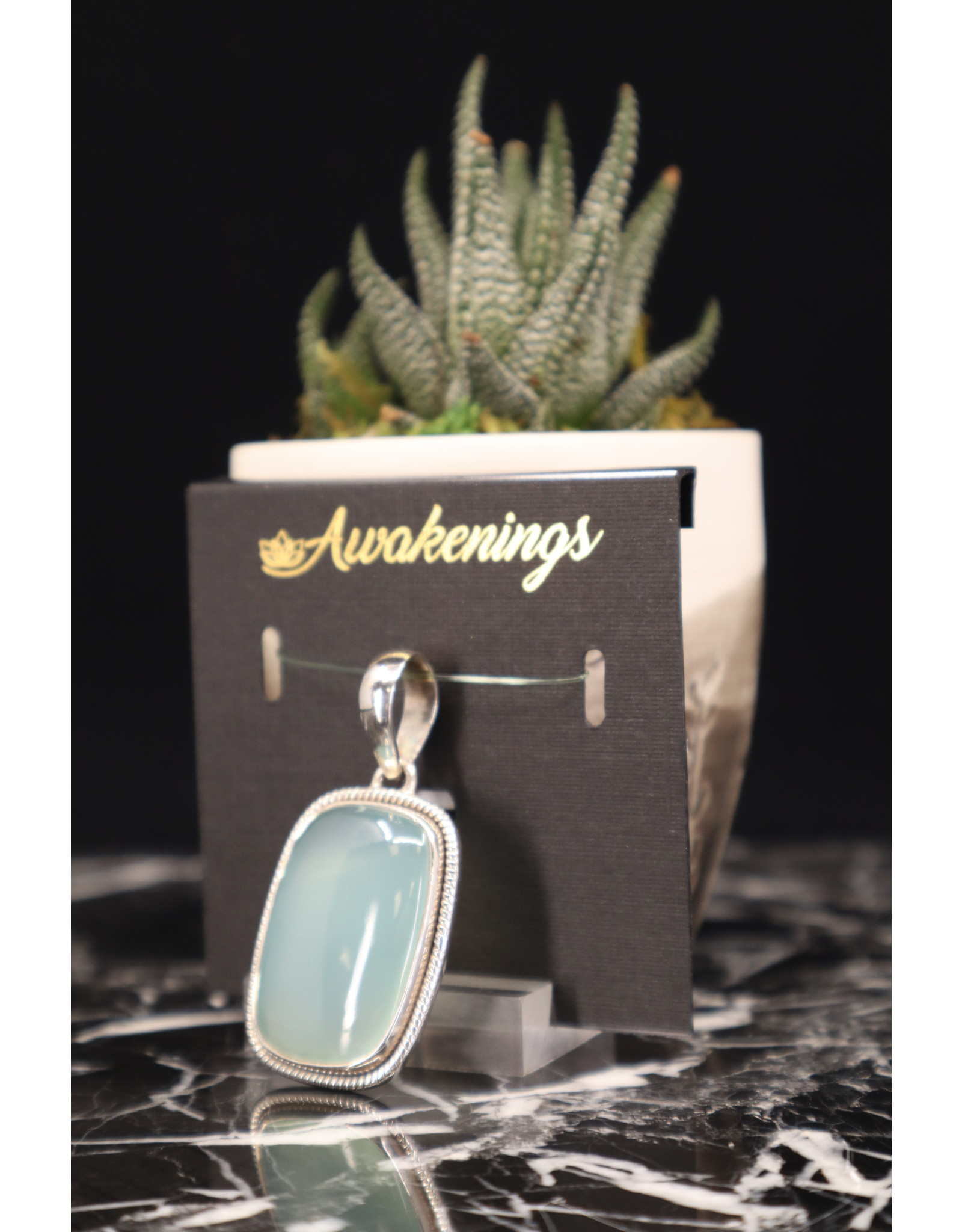 Aquamarine Pendant #2 - Rectangle