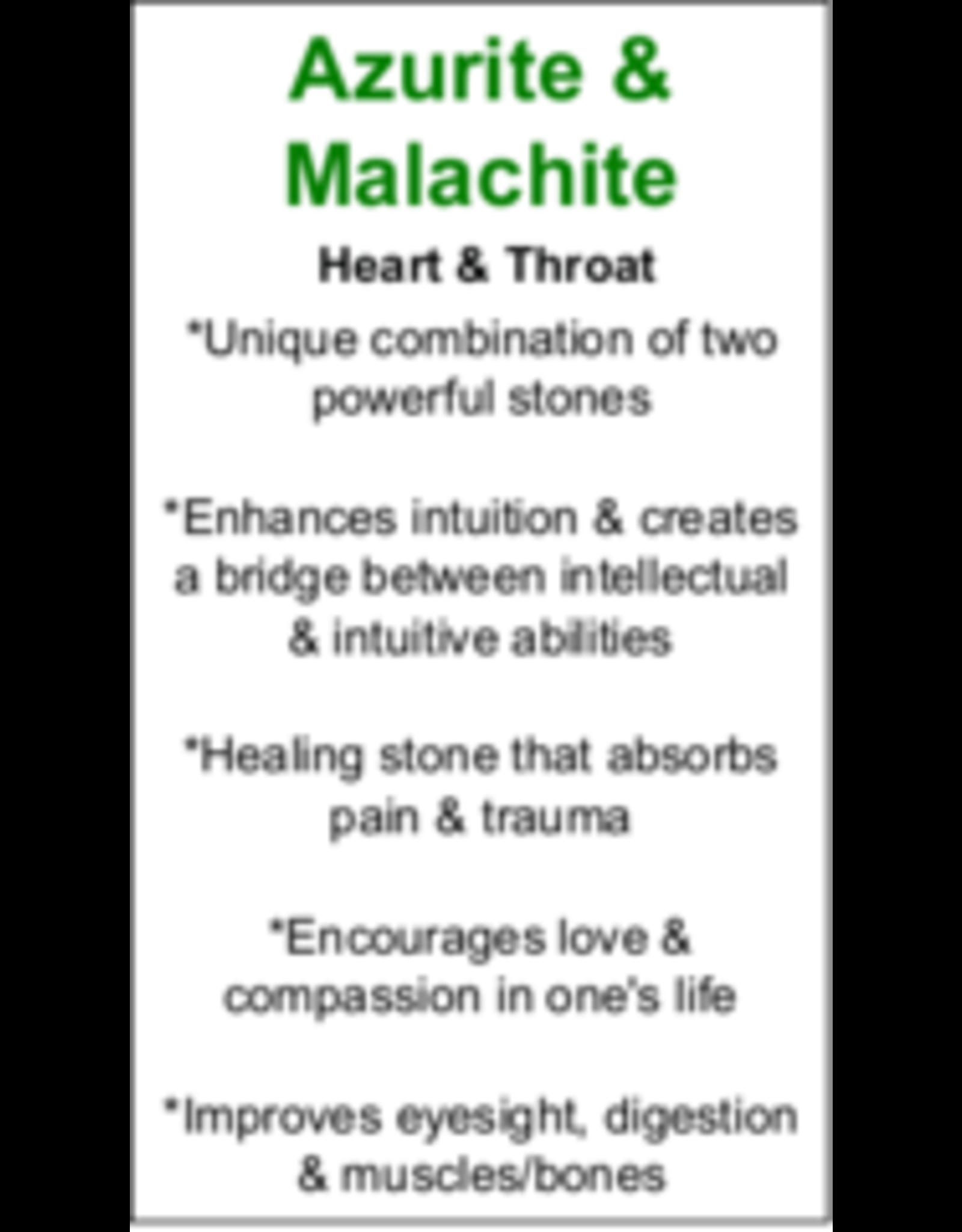 Boulder Azurite Malachite Pendant #2 - Pointed Oval