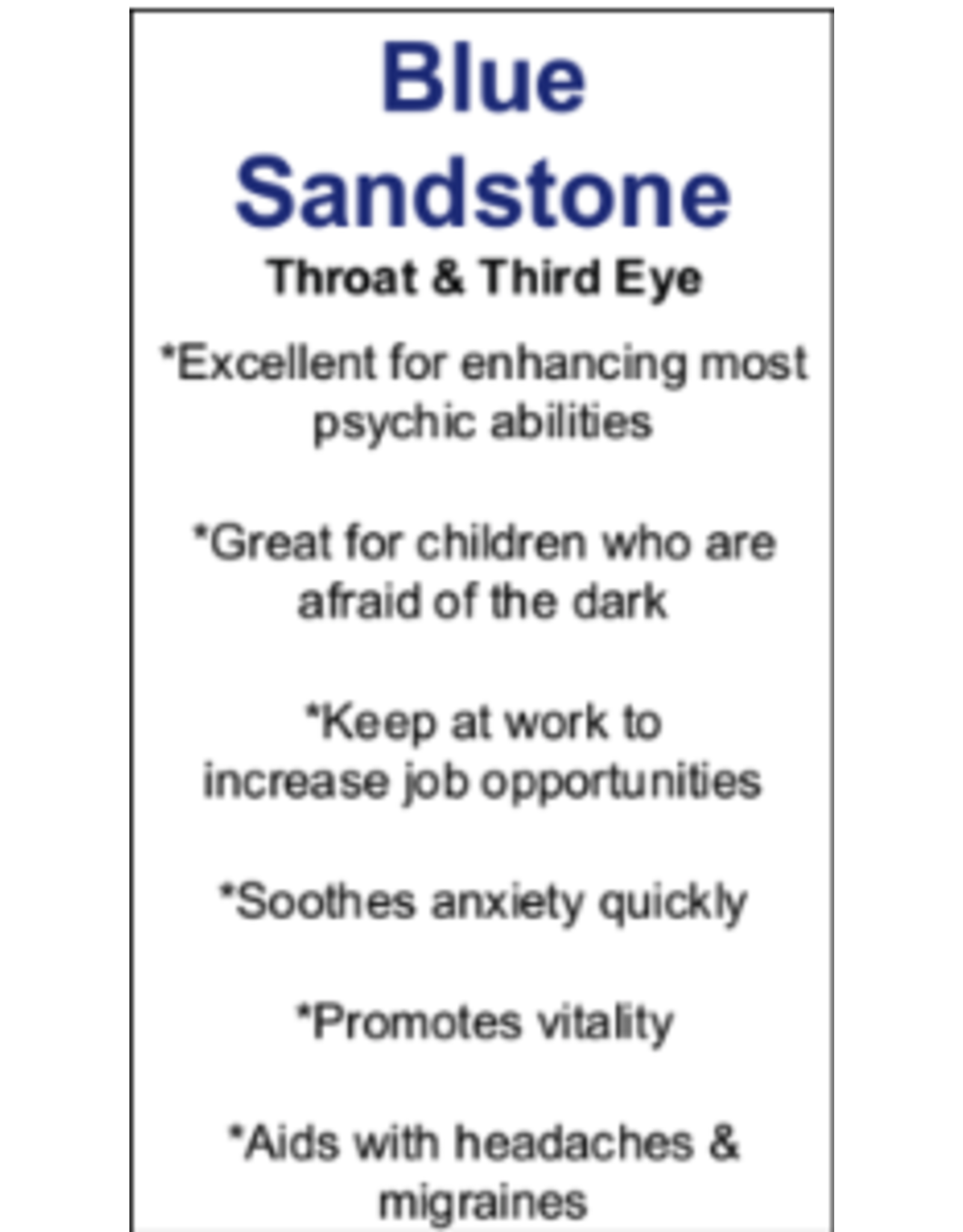 "Blue Sandstone/Goldstone Tower/Point-Medium (3-4"")"