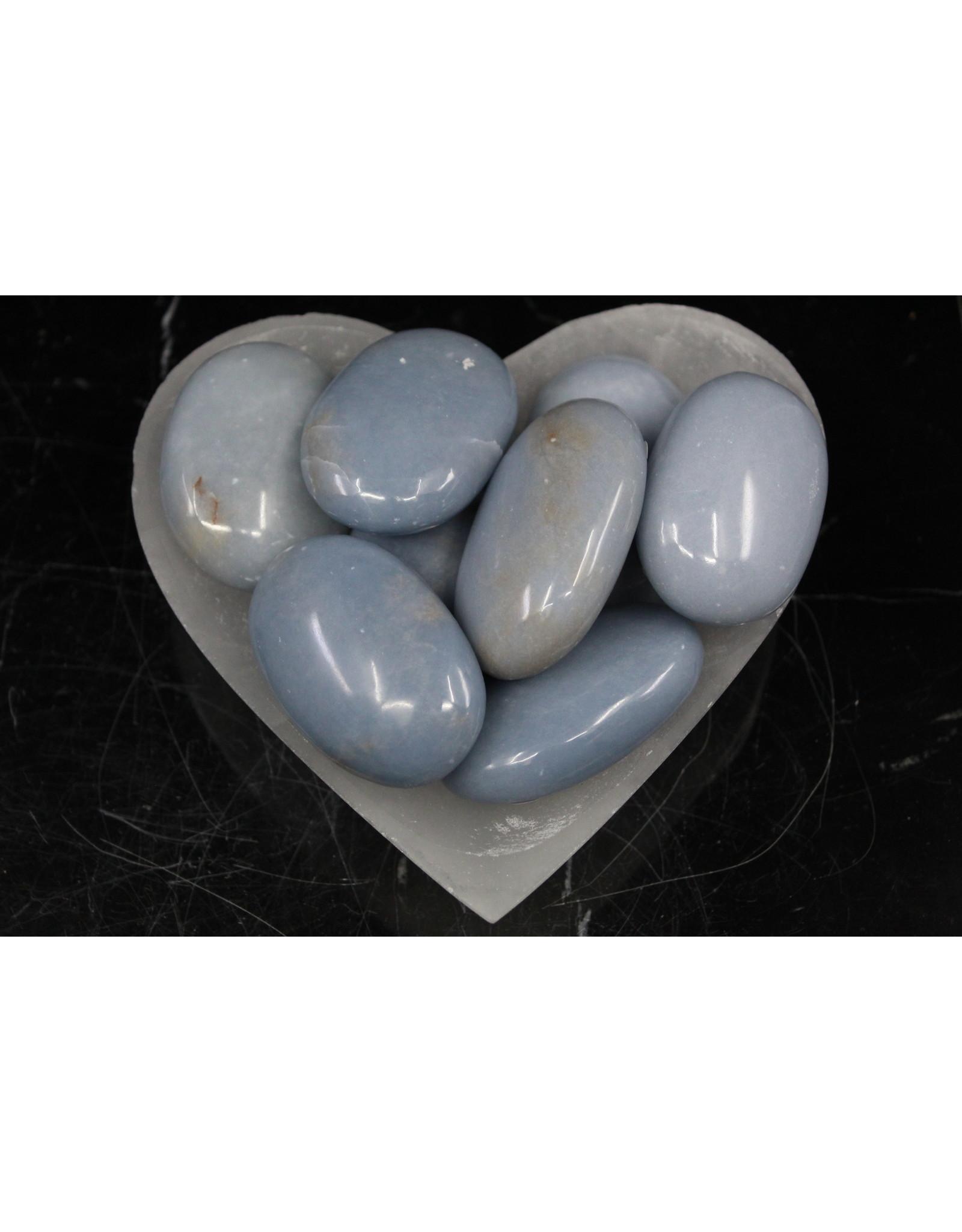 Angelite Palm/Pillow Stone
