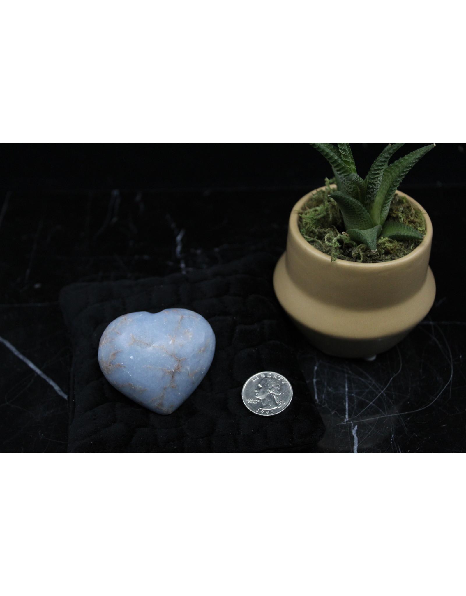 Angelite Heart Medium