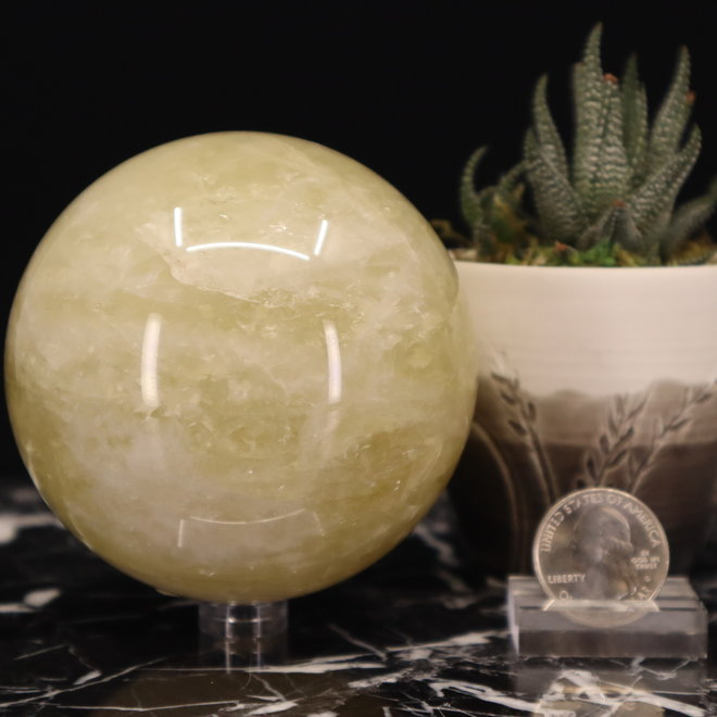 Citrine Sphere Orb-85mm