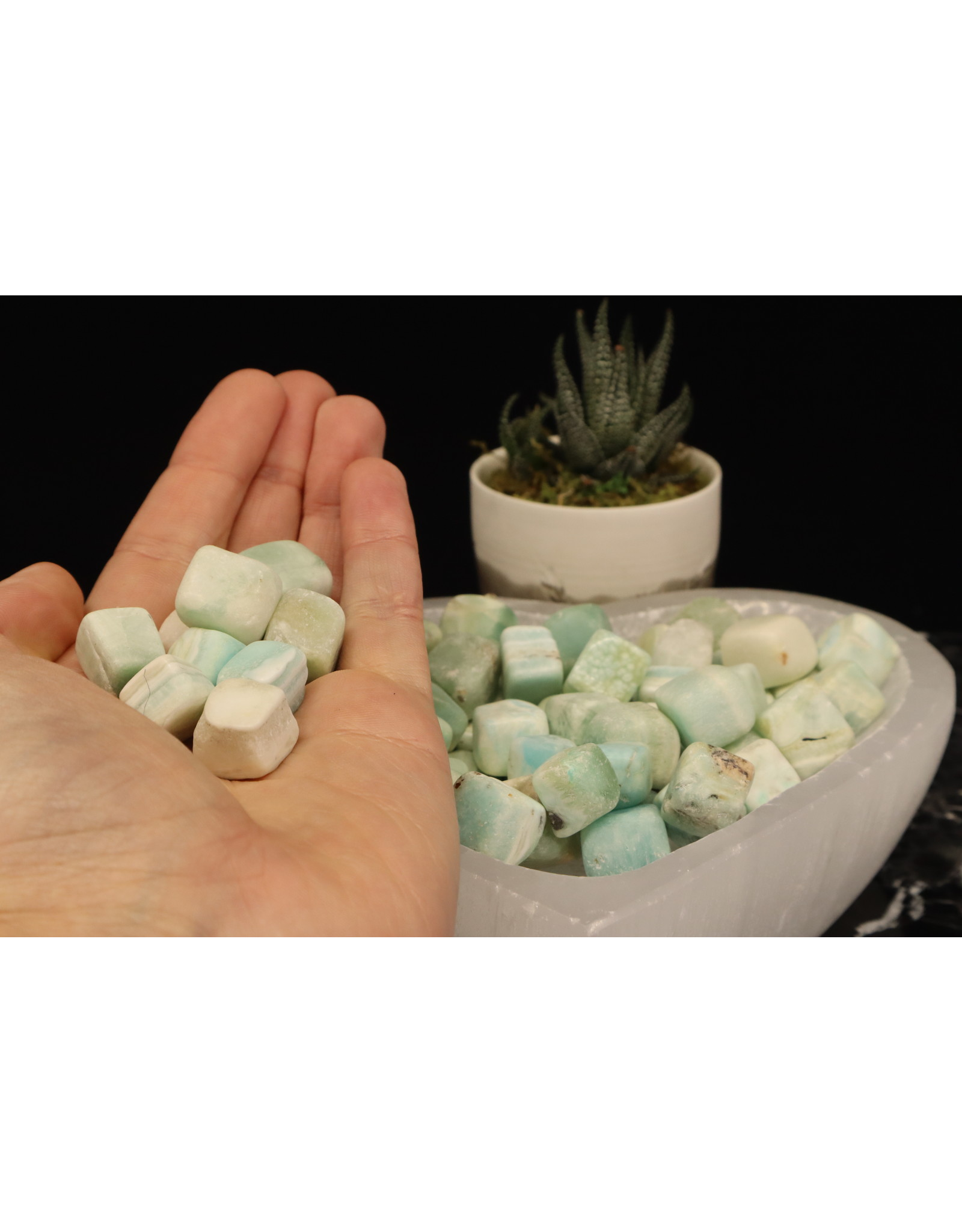 "Blue Aragonite Cubes .05""-1"""