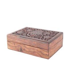 Hamsa Wood Box