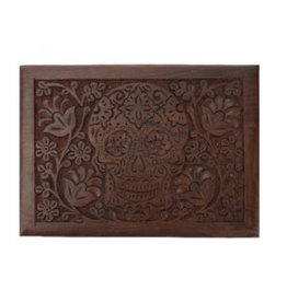Sugar Skull Wood Box