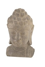 Buddha Head Statuary-Grey 8""