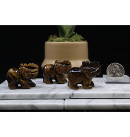 Gold Tigers Eye Elephant-Small