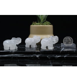 Clear Quartz Elephant-Small