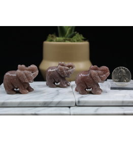 Red Aventurine Elephant-Small