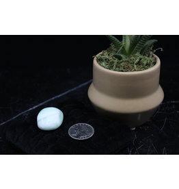 Bright Green Calcite Palm/Pillow Stone -Small