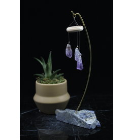 Amethyst Hanging Chandelier on Sodalite  Base
