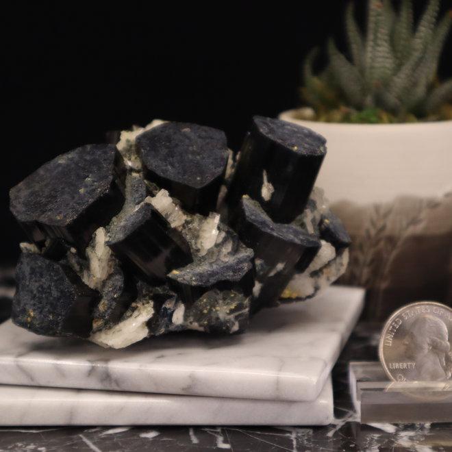 Large Black Tourmaline Specimen - Museum Quality