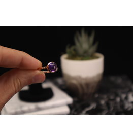Rose Gold Amethyst Ring - Size 9
