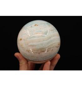 Caribbean Calcite Sphere - 85mm