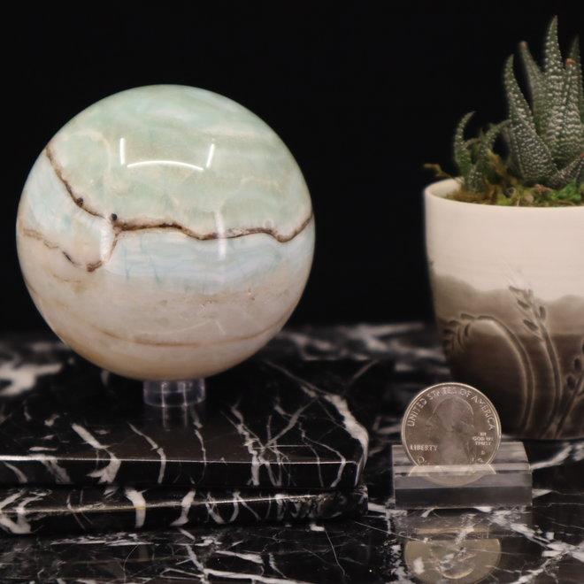 Caribbean Calcite  Sphere -70mm