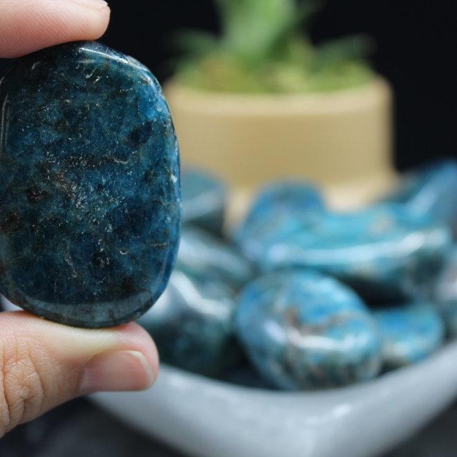 Blue Apatite Pillow/Palm Stone Small