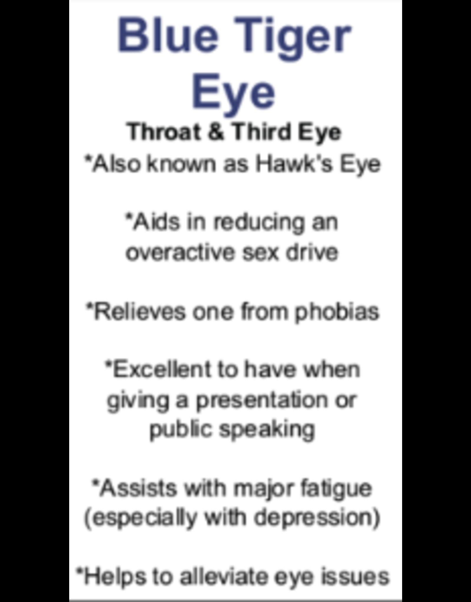 Blue Tiger Eye/Hawks Eye Palm/Pillow Stone