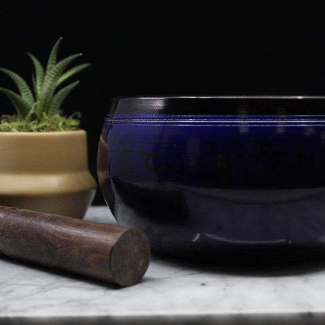 "6"" Purple Curved Aluminum Singing Bowl w/ Striker"