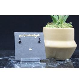 Black Onyx Earrings - Dainty Stud