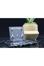 Amethyst Earrings - Dainty Dangle