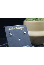 Citrine Earrings - Dainty Stud (Pear)