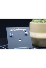 Blue Kyanite Earrings - Dainty Stud