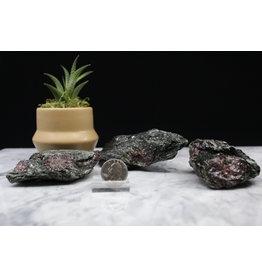 Ruby in Black Kyanite - Medium