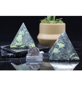 Serpentine w/ Chalcopyrite Inclusion Pyramid - Large