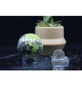 Serpentine w/ Chalcopyrite Sphere Orb-50mm