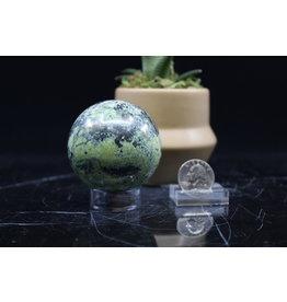 Serpentine w/ Chalcopyrite Sphere Orb-55mm