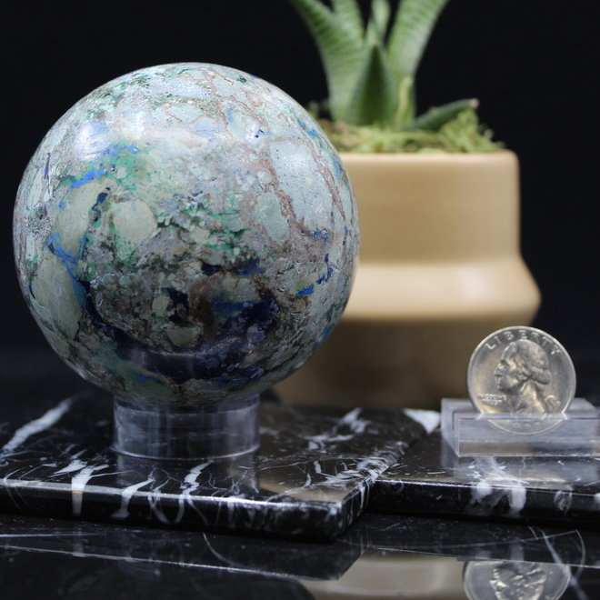 Azurite Malachite Sphere Orb - 70mm