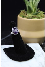 Amethyst Ring (Textured) - Size 8