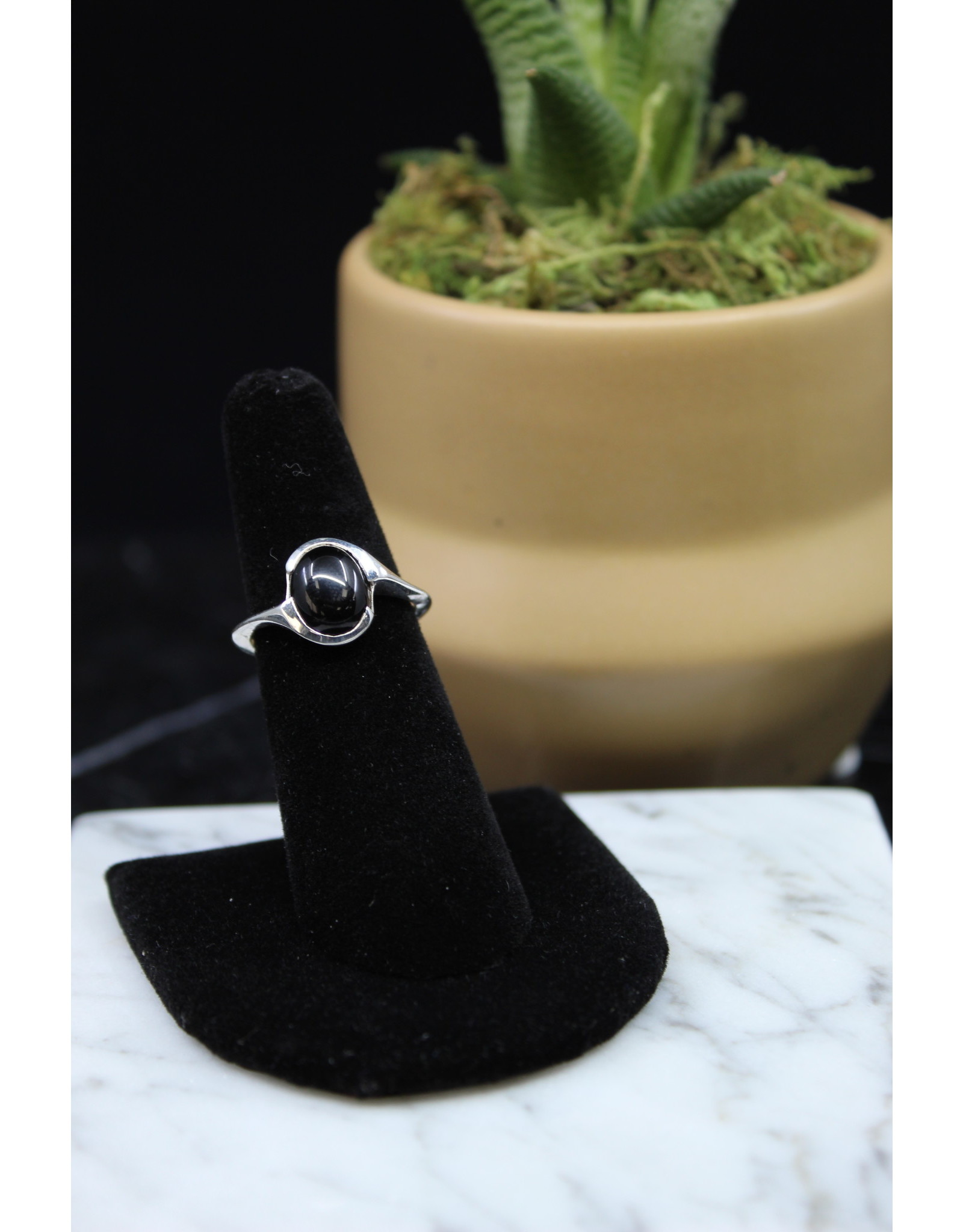 Black Onyx Ring - Size 7