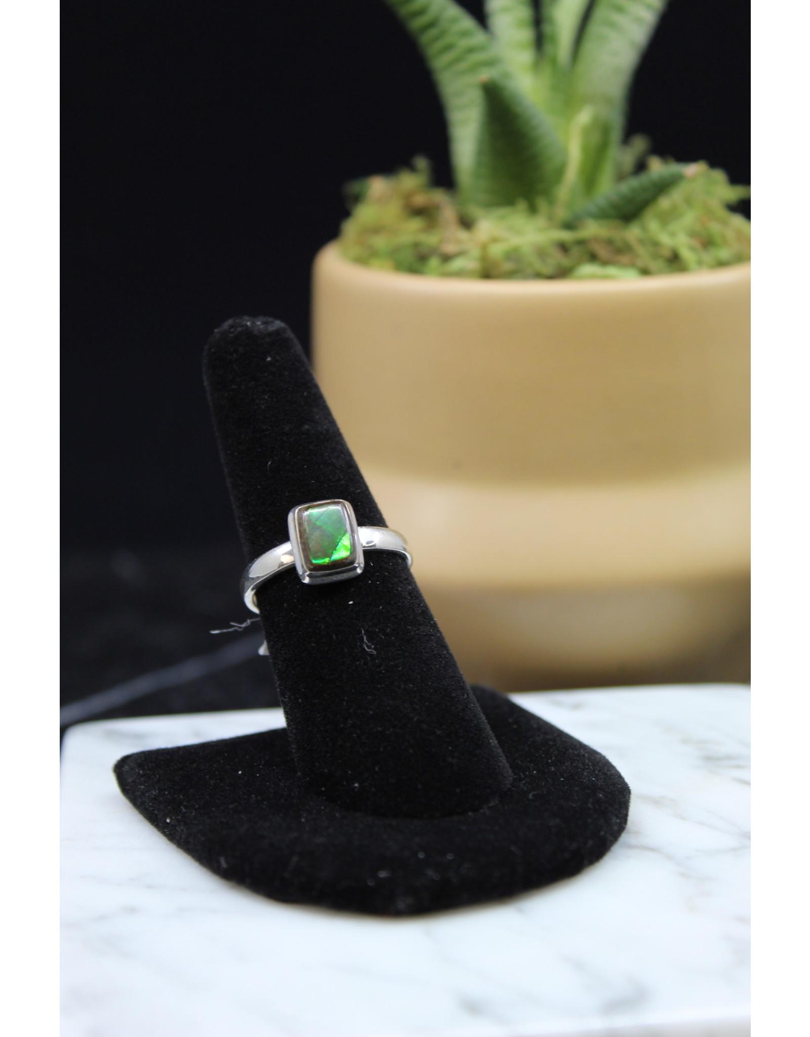 Ammolite Ring - Size 8
