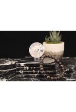 Andamooka Matrix Black Opal Bracelet - 8mm