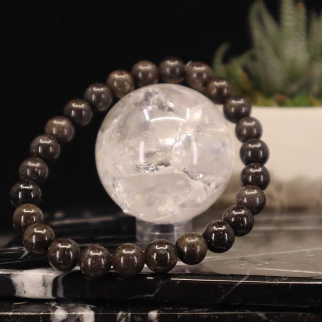 Andamooka Matrix Black Opal Bracelet-8mm