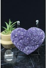 Amethyst Druzy Heart AAA Grade-XLarge