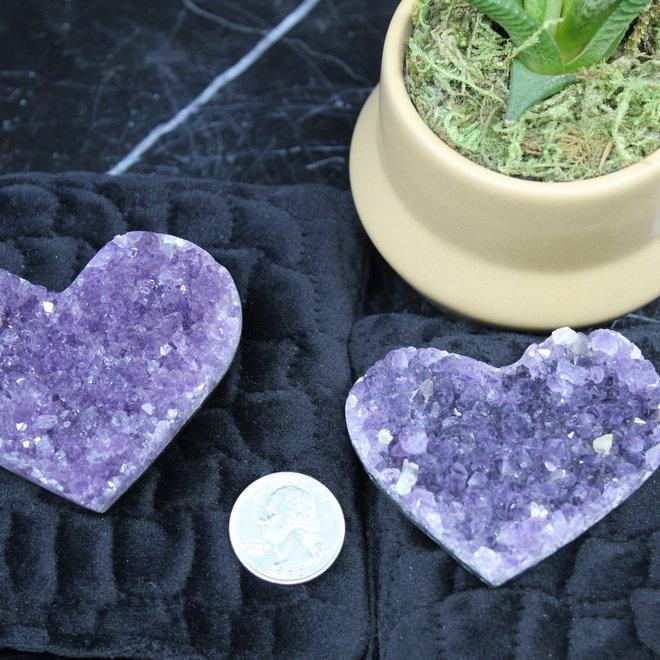 Amethyst Druzy Heart AAA Grade-Small
