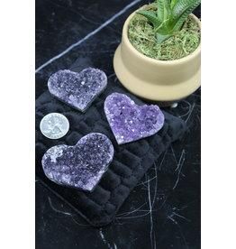 Amethyst Druzy Heart AAA Grade-Mini