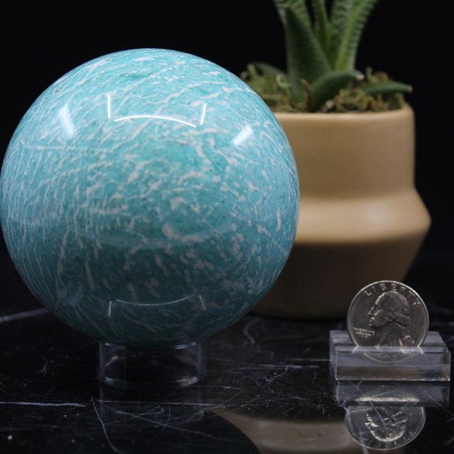 Amazonite Sphere Orb 80mm