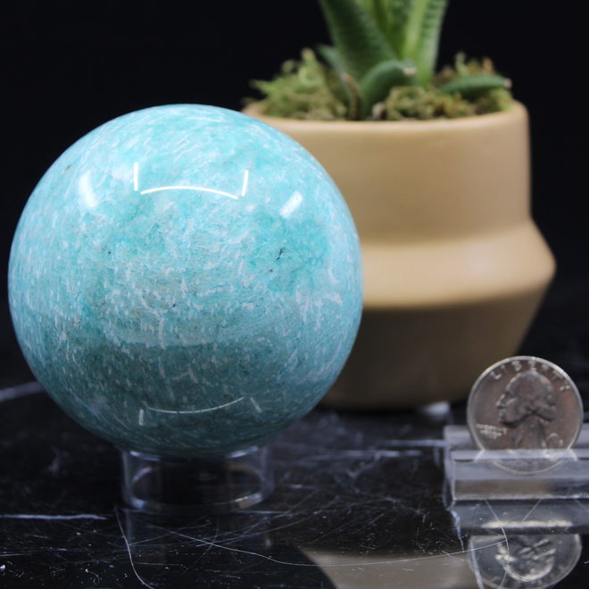 Amazonite Sphere Orb 70mm