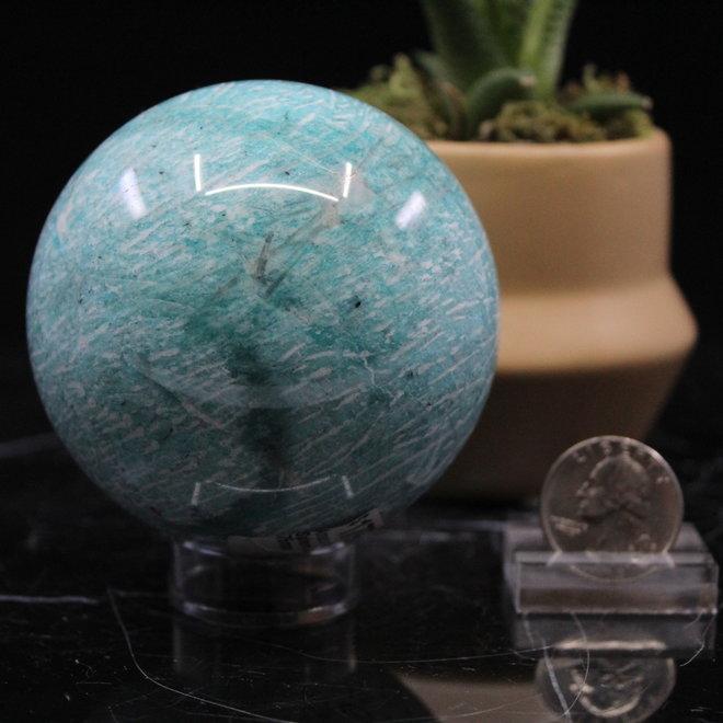 Amazonite Sphere Orb-75mm