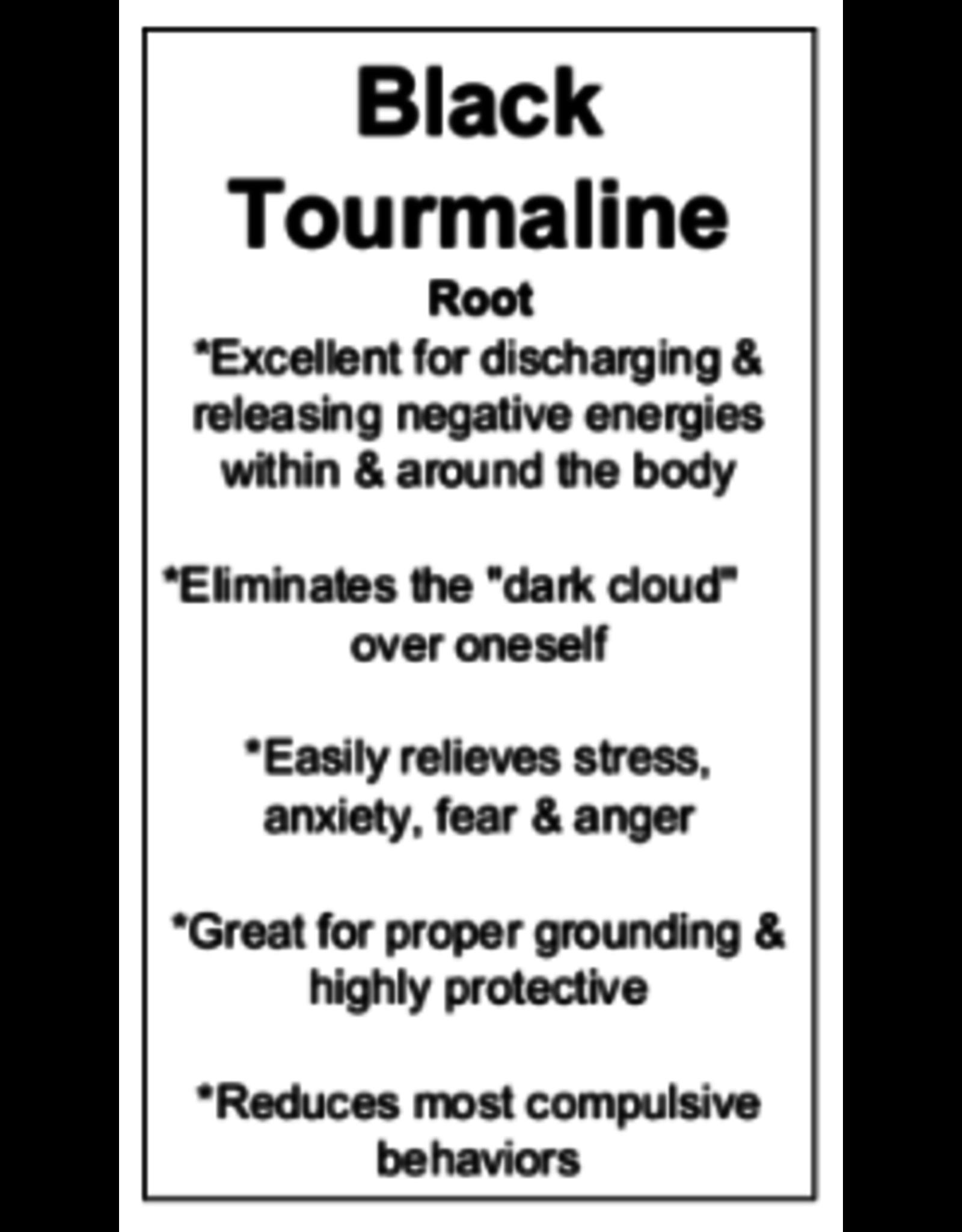 Black Tourmaline with Red Hematite Tower Point-Medium