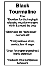 Black Tourmaline Free Form - Medium