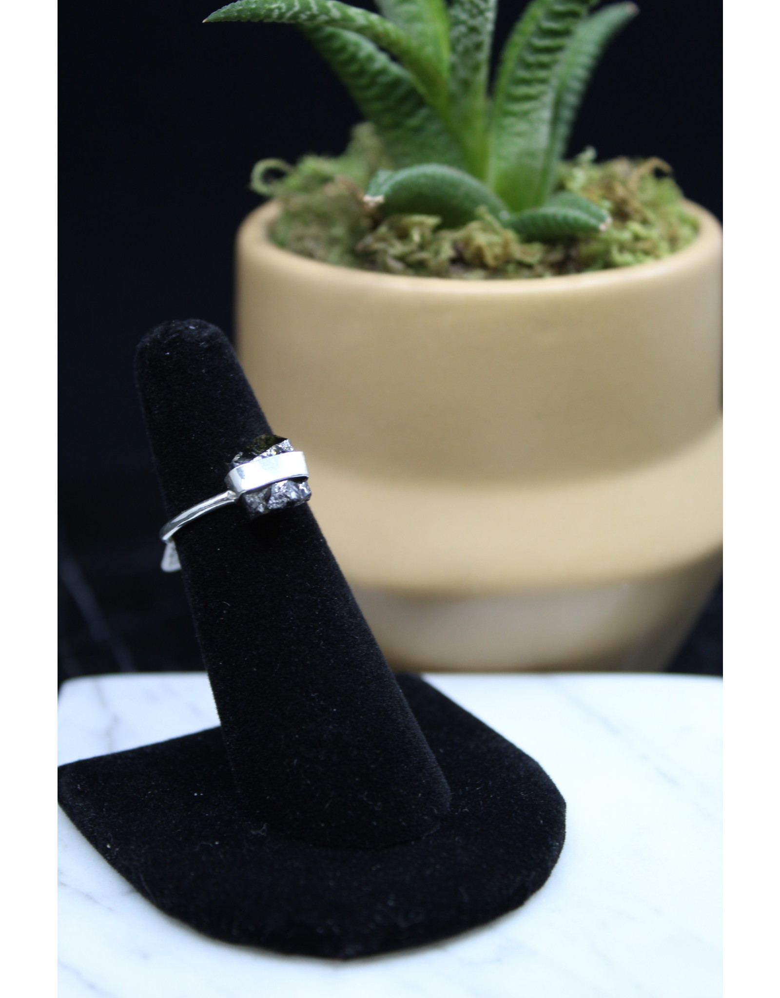 Black Tourmaline Ring - Size 5