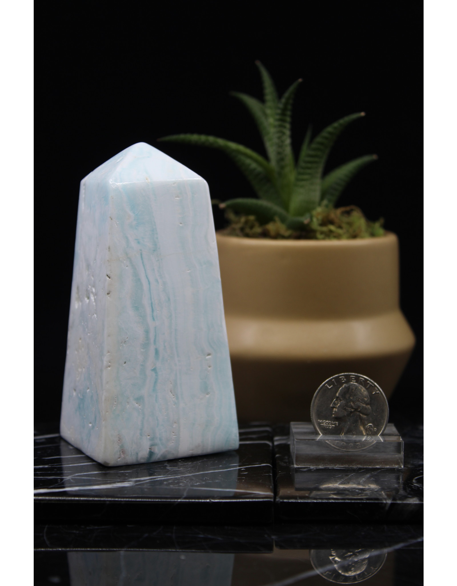 Caribbean Calcite Obelisk - Large