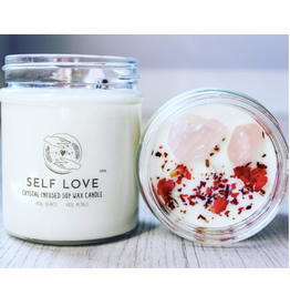 Candle -Crystal  -Self Love