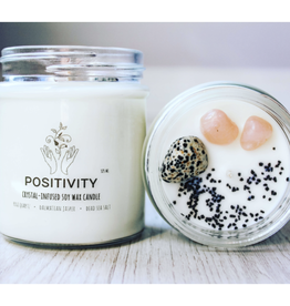 Candle -Crystal  -Positivity