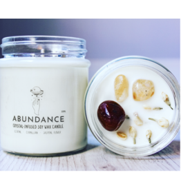 Candle -Crystal  -Abundance